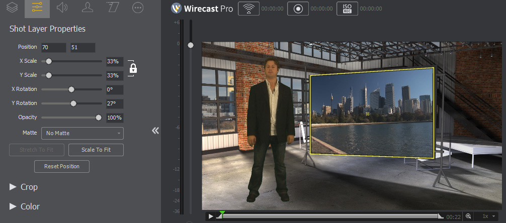 Wirecast 7 Virtual Studio