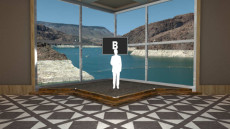 Virtual Set Studio 104 for 4K is a stage with a view of a dam.