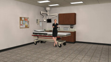 Virtual Set Studio 143 for vMix is a doctors office or ER.