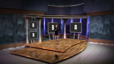 Virtual Set Studio 147 for Wirecast is a presentation stage.