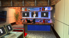 Virtual Set Studio 167 for HD Extreme is a radio talk show set.
