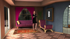 Virtual Set Studio 169 for Wirecast is a highrise apartment with bedroom, bathroom, livingroom and furnishings.