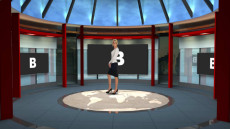 Virtual Set Studio 171 for vMix is a weather set complete with graphics and icons for doing your own weather.
