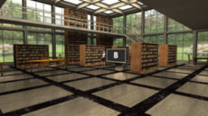 Virtual Set Studio 196 for HD Extreme is an airy library with optional monitors and furniture.