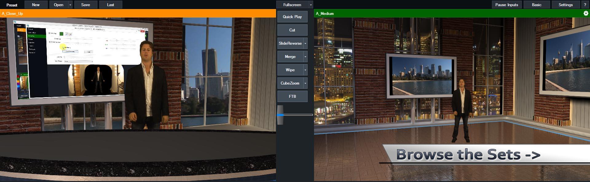 vMix Virtual Set Studios
