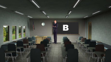 Virtual Set Studio 105 for After Effects is a classroom with chalkboard.