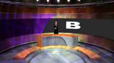 Virtual Set Studio 112 for Wirecast is a news desk with lots of texture and lighting.