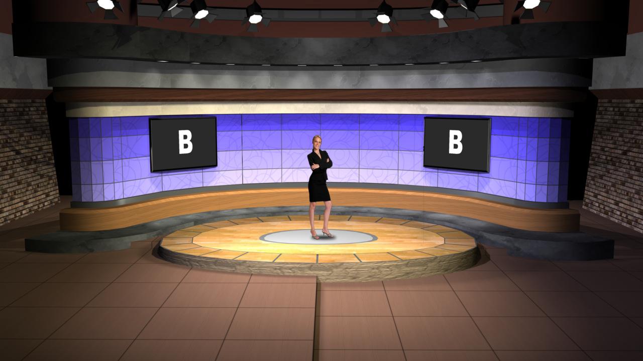 Virtual Set Studio 139 for vMix is a talk show set