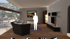 Virtual Set Studio 142 for Wirecast is a living room.