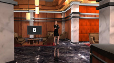 Virtual Set Studio 154 for Virtual Set Editor is a plush hotel lobby.