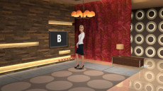 Virtual Set Studio 161 for Wirecast is a swank 60s pad with lush retro furniture.