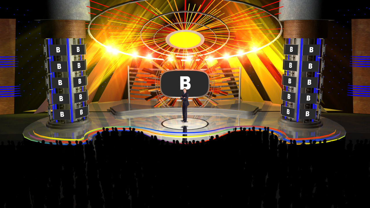 Virtual Set Studio 166 for vMix is a rock concert stage