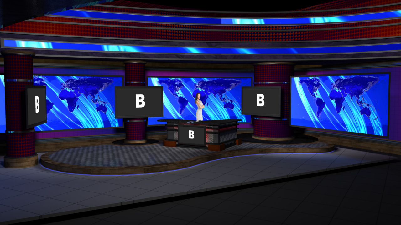 Virtual set studio 187 for hd is a nightly news room with - Virtual room designer upload photo ...