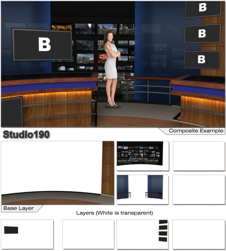 Virtual Home Design Studio: Virtual Set Studio 190 For Wirecast Is A Virtual News