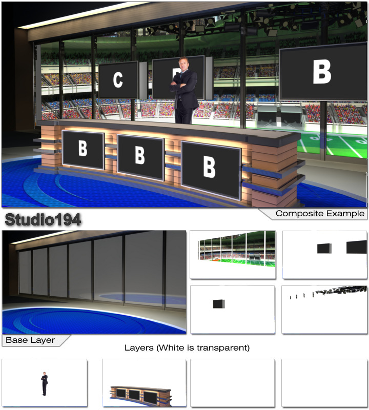Virtual Home Design Studio: Virtual Set Studio 194 For Photoshop Is A Sports News Desk
