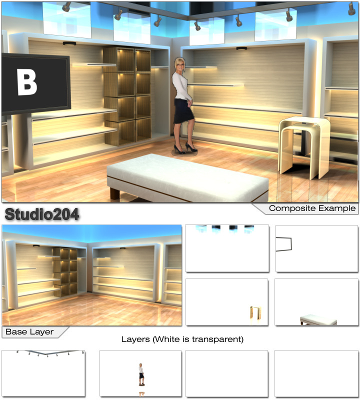 Virtual Set Studio 204 for After Effects is a store with