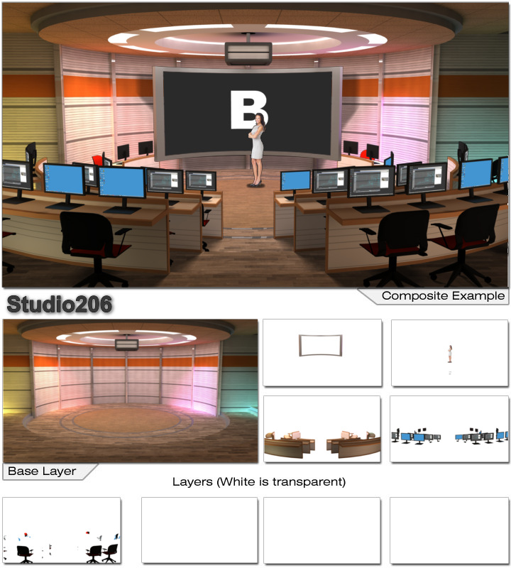 Virtual Home Design Studio: Virtual Set Studio 206 For Wirecast Is A Lecture Hall
